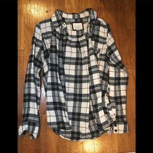 Black/white/red flannel from Forever 21